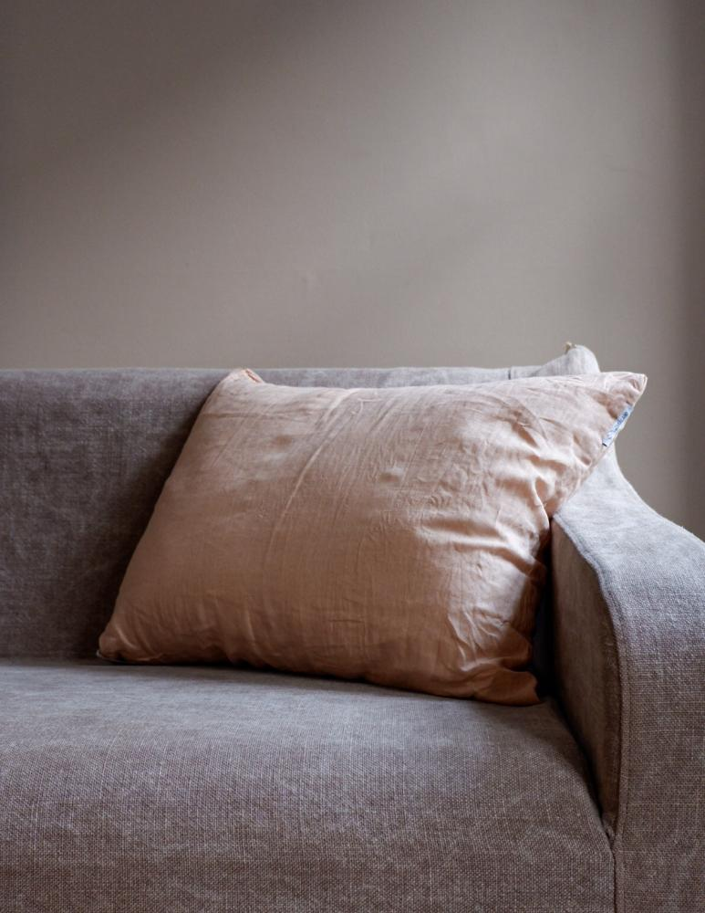 Cushion Linen Peach Pink