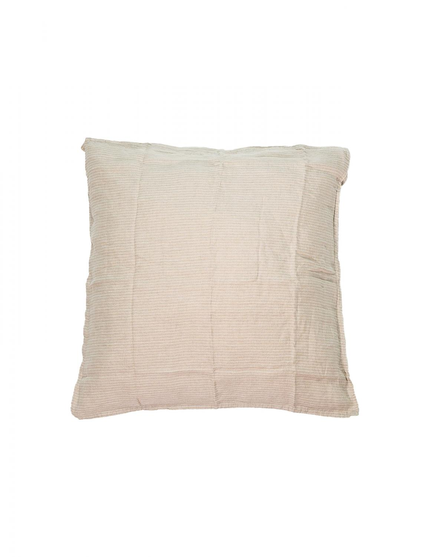 Cushion Cover Linen Pinstripe Natural/White