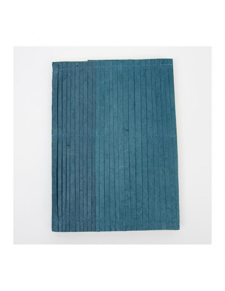 Blue Pleated Notebook A6