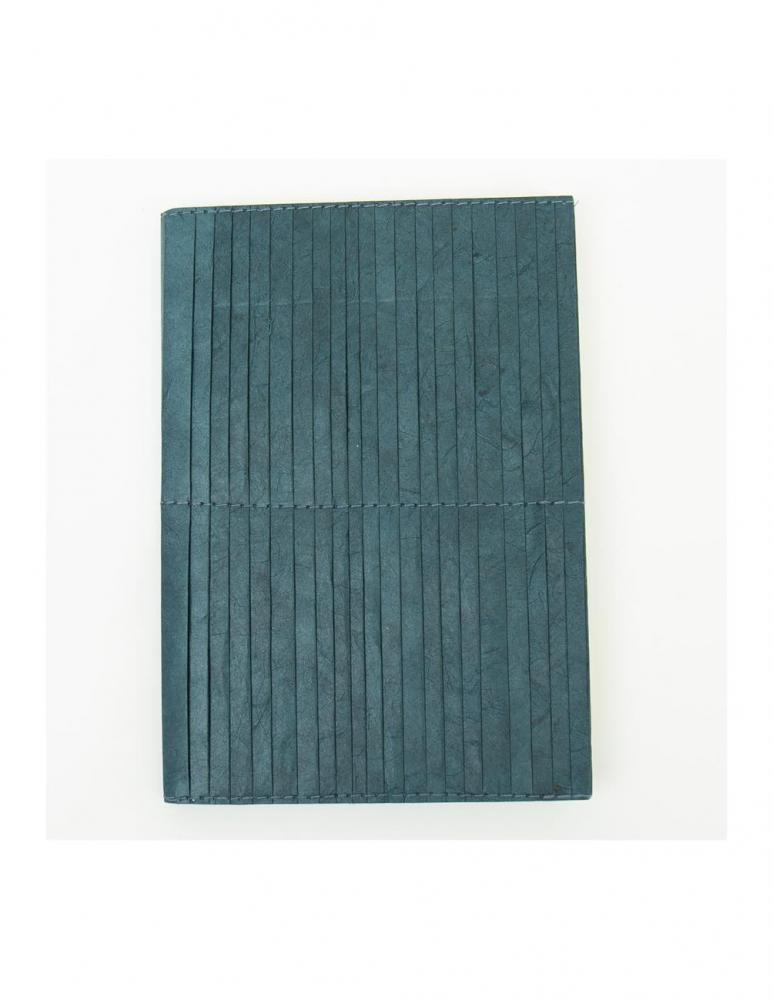 Blue Pleated Notebook A5