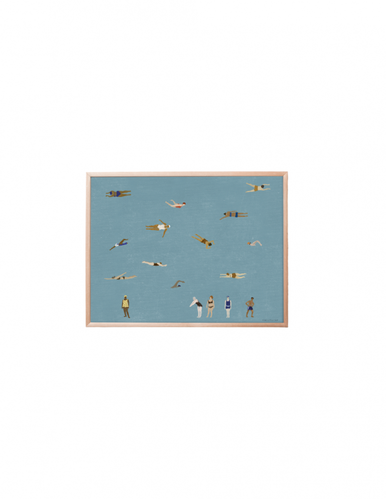Poster Swimmers 40x50cm