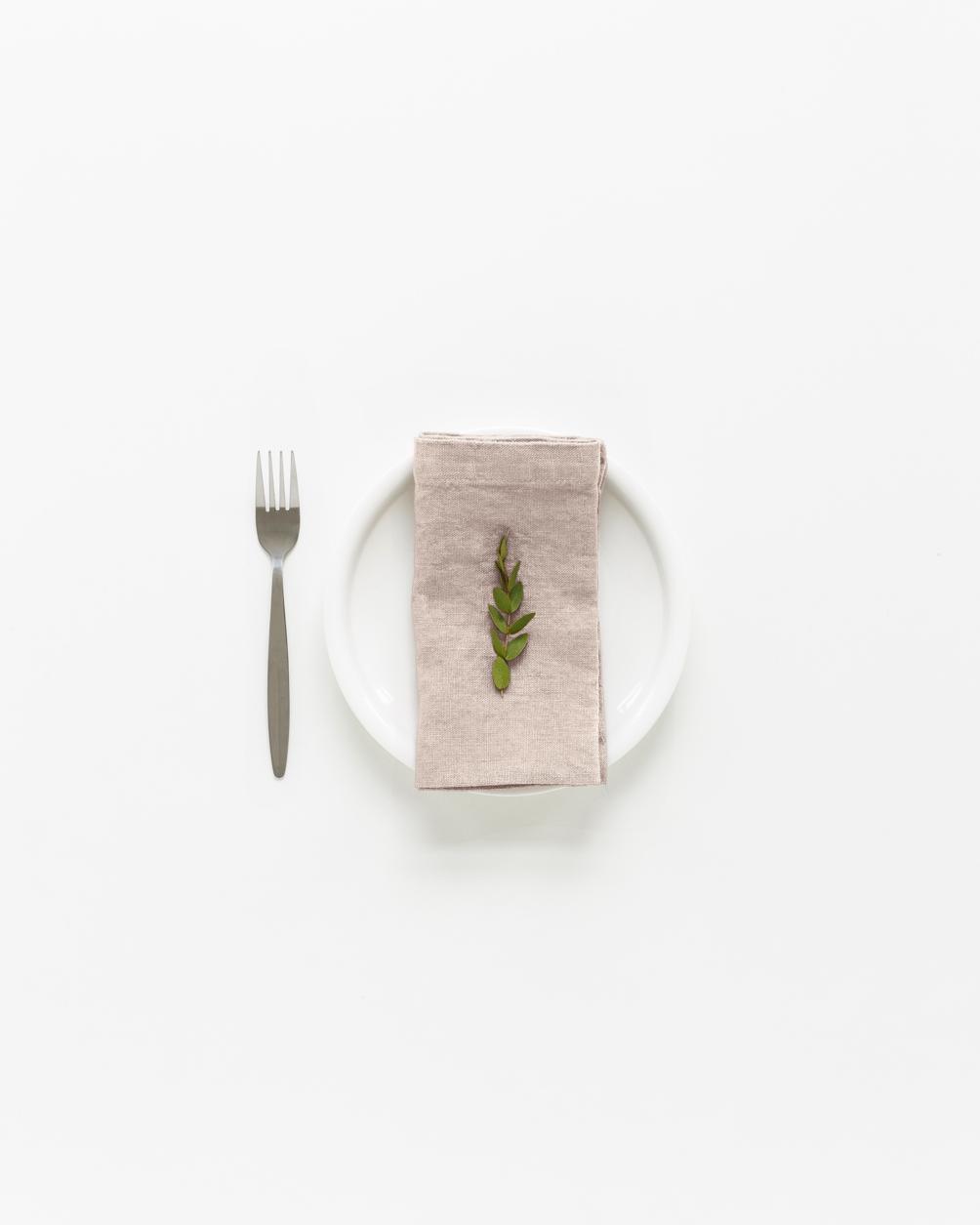 Handmade napkin portobello linnen