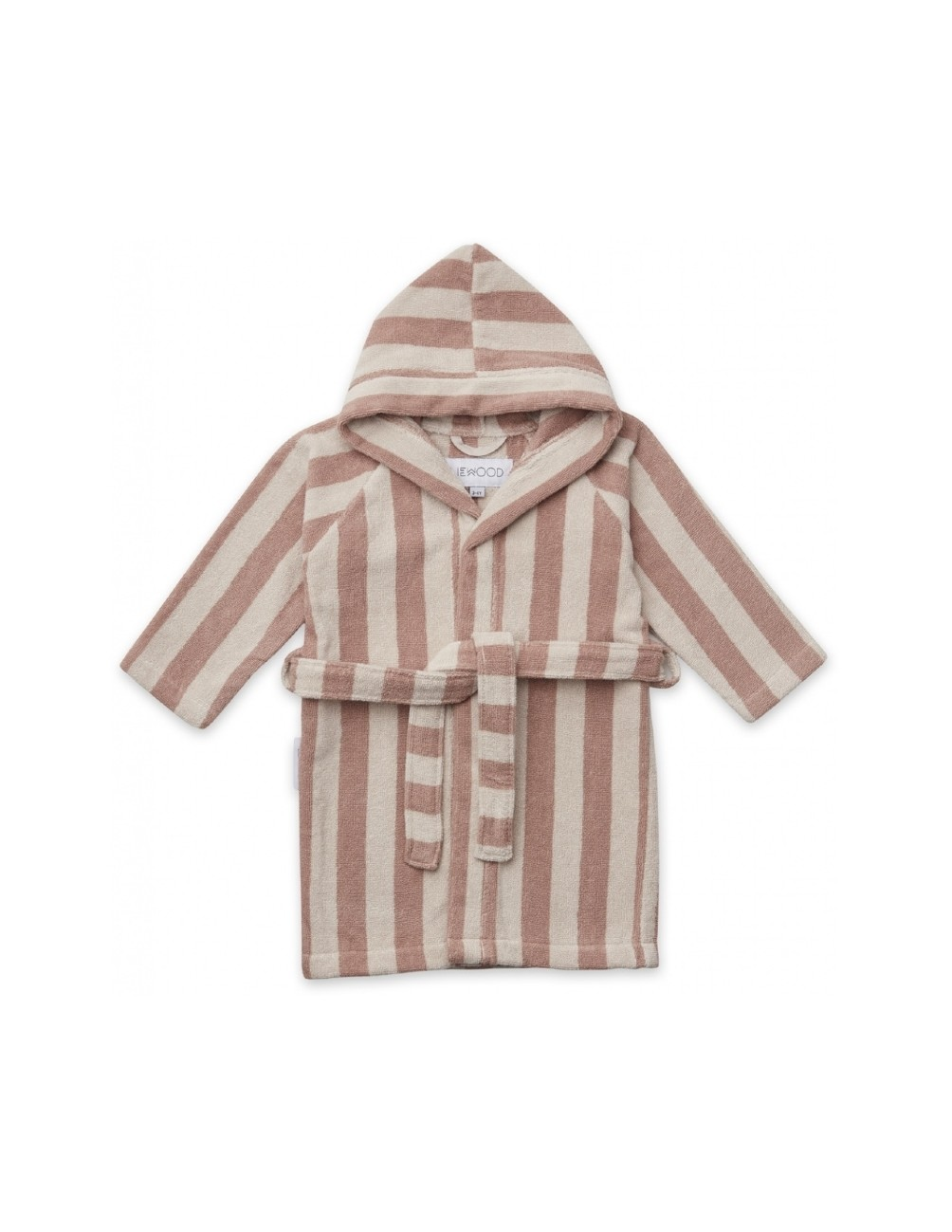 Reggie Bathrobe Striped Rose/Sand