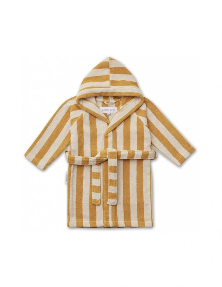 Reggie Bathrobe Striped Yellow Mellow/Sand