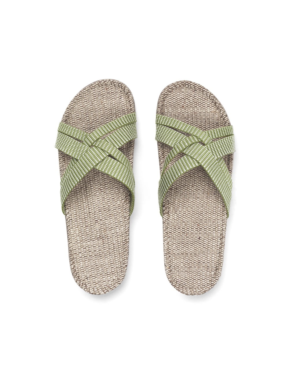 Sandals Green Leaves