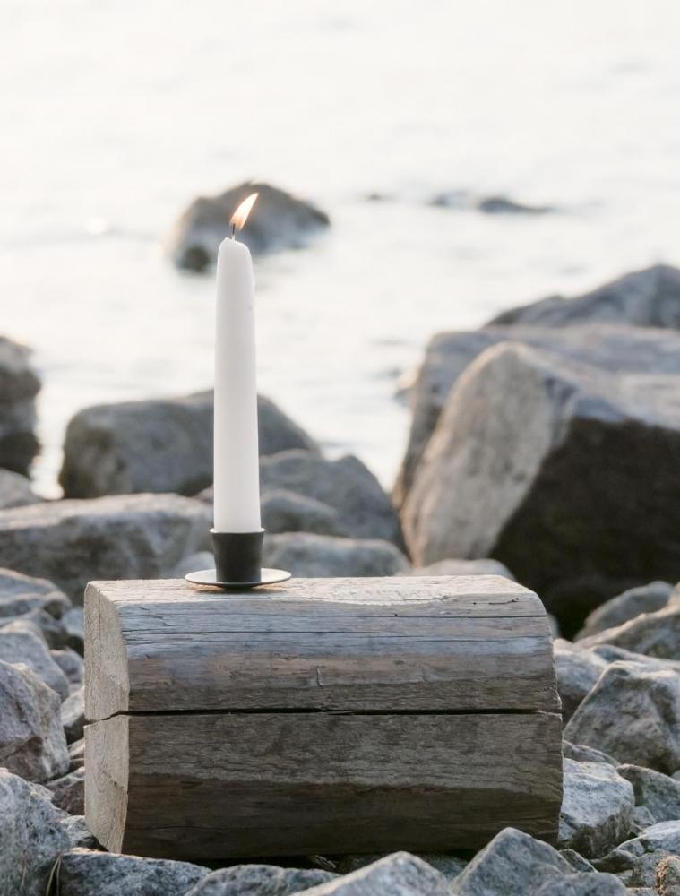 Screwable Candle Holder Black
