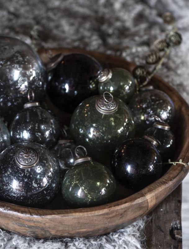 Christmas ball Pebbled Glass Smoke