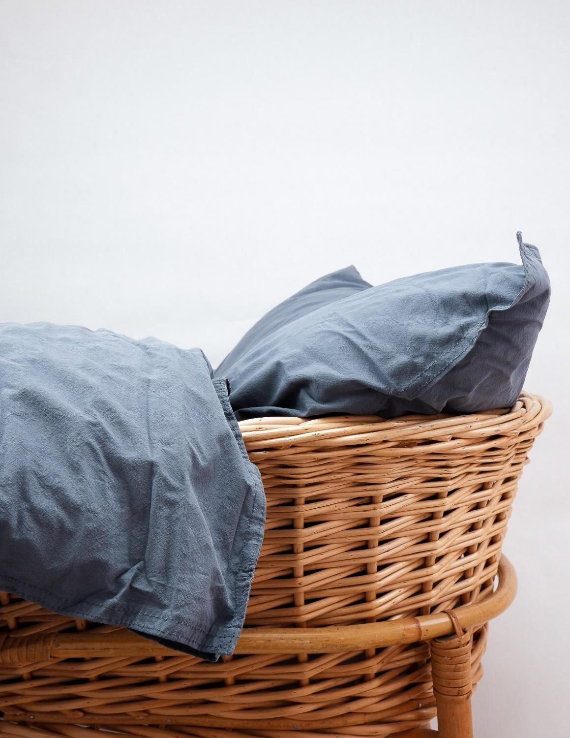 Baby Duvet Cover Crinkler Dusty Blue