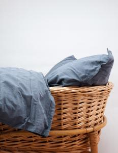Baby Duvet Cover Crinkler Dusty Blue