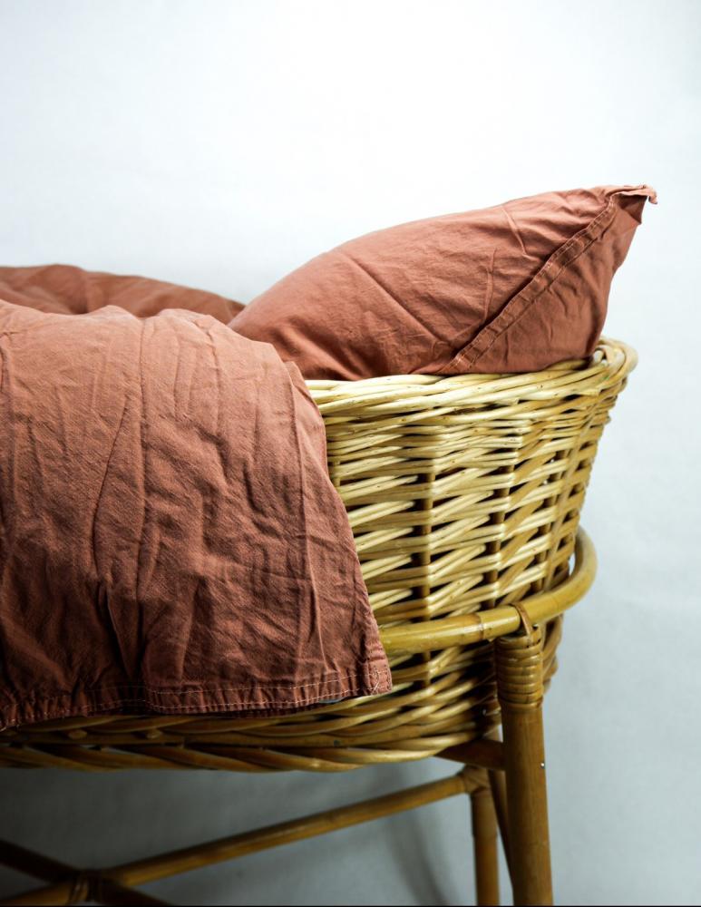 Baby Duvet Cover Crinkle Terracotta