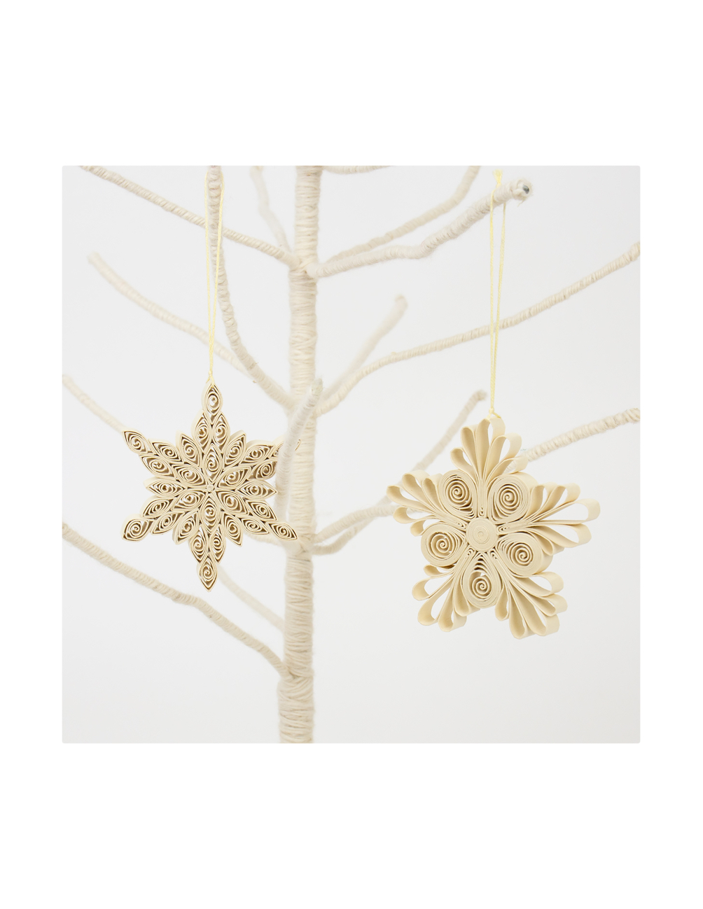Quilled Christmas Ornament 2-pack