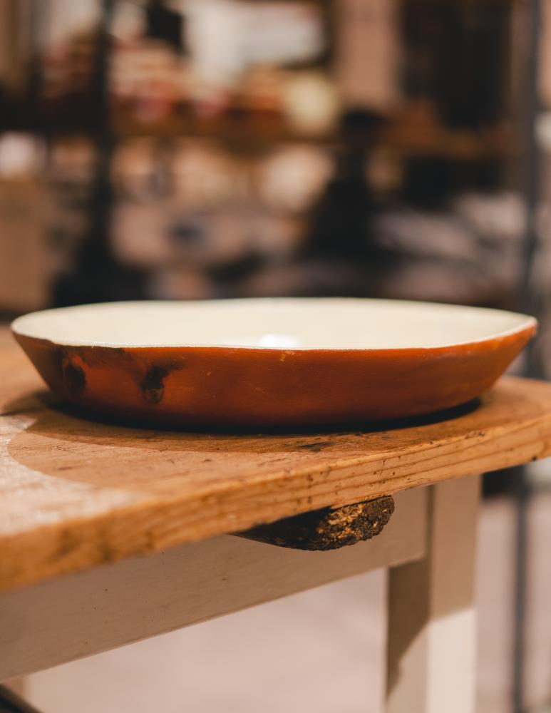 Big flat bowl