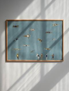 Swimmers Poster