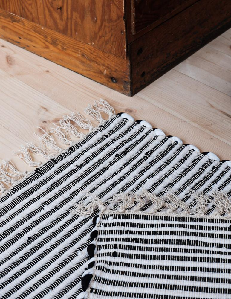 Recycled Rug Black/white
