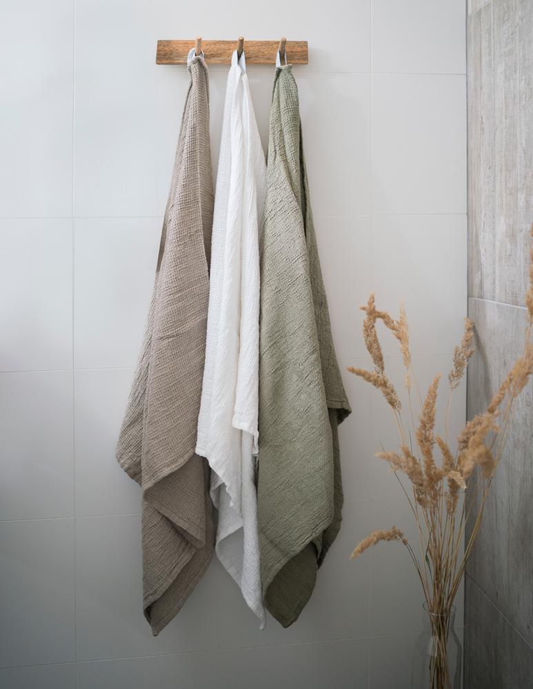Waffled Towel Vejby Green 70x130cm