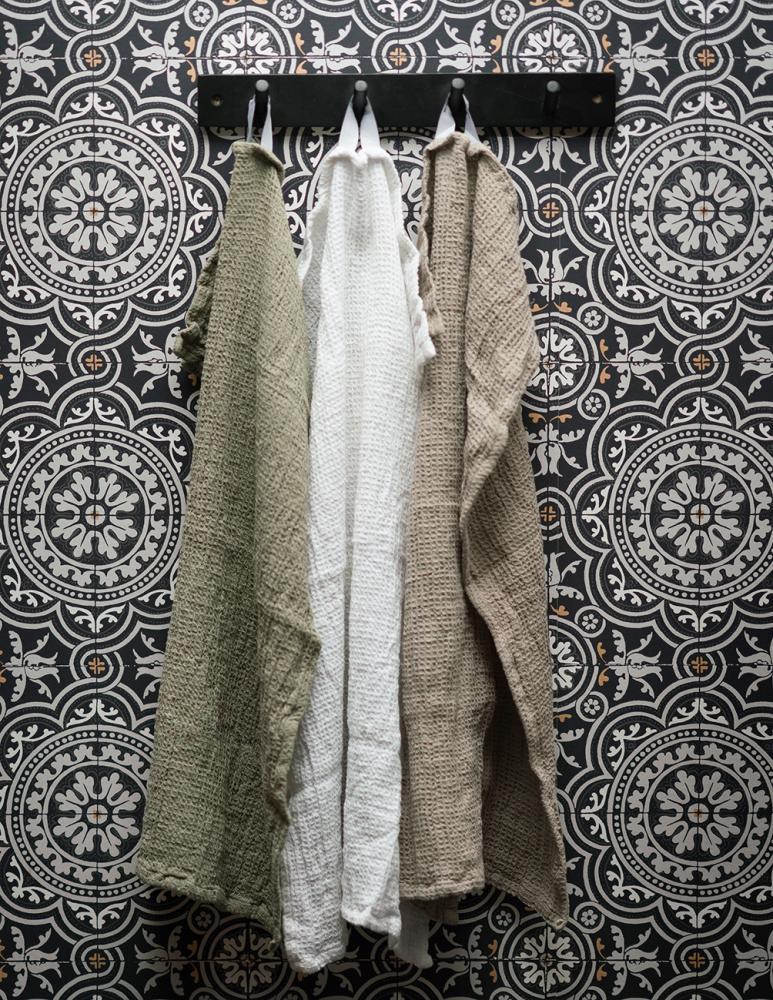 Waffled Towel Vejby Light Brown 40x60cm