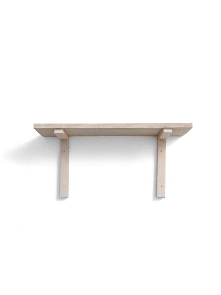 White Wall Shelf Reclaimed Wood