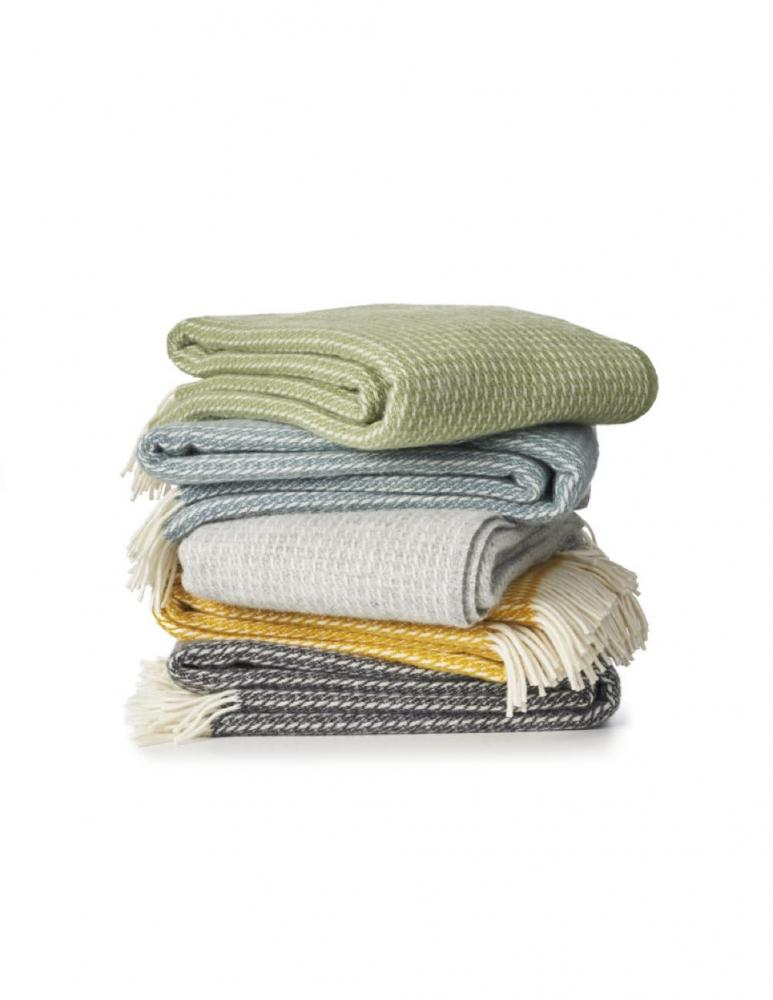 Line Green Blanket/Throw