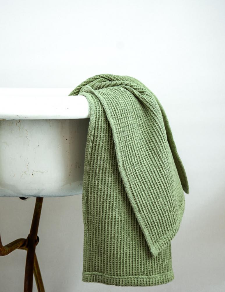 Waffle Towel Green