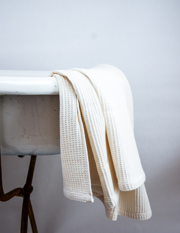 Waffle Towel Off White