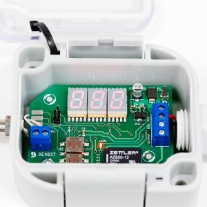 Temperaturbrytare med display för utemontage