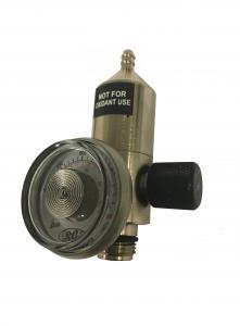 Fastflödesregulator SS 0,5l/min till engångscylinder