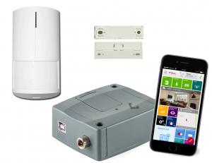 4G-larm paket med rörelsedetektor och dörrkontakt