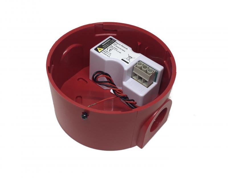 Djup bas till siren/blixtljus m 230VAC/24VDC agg.
