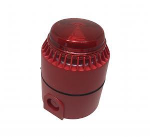 Kombinerad siren/blixtljus röd