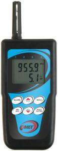 Handhållen termometer och hygrometer med intern givare