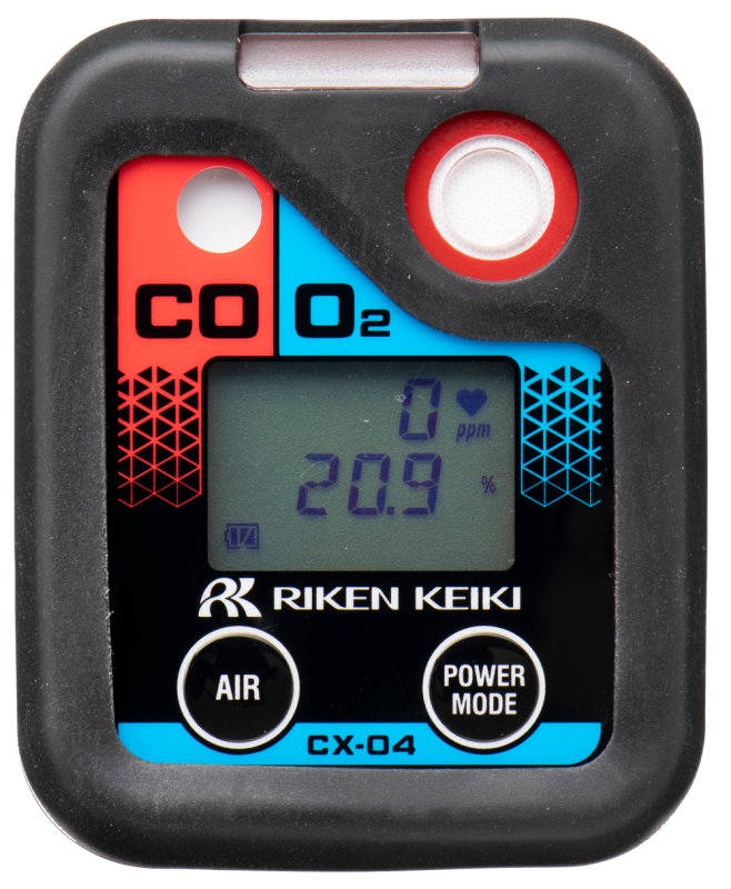 Portabelt gaslarm för O2 och CO