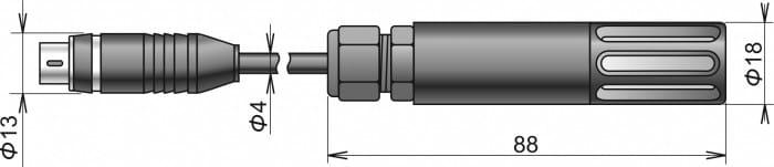 Digital temperatur & luftfuktighetsgivare med kabel DIGIL-E