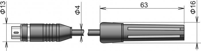 Digital temperatur & luftfuktighetsgivare med kabel DIGIS-E