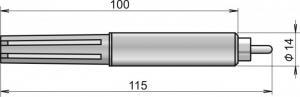 Digital rumstemperaturgivare -30 till 80°C för Comet Websensor P8xx1