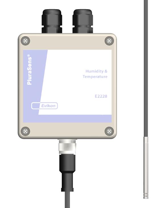 Temperatur- & luftfuktighetstransmitter med extern givare MINI