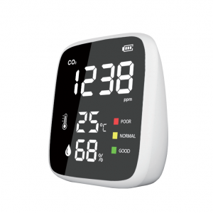 Luftkvalitetsmätare för temp, RH och CO2