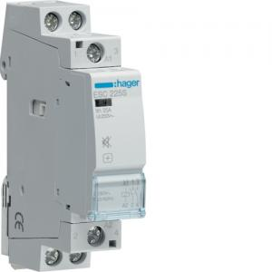 Kontaktor brumfri för normcentral 230VAC/25A 2NO