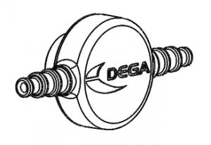 Flödesadapter till gastransmittrar & -detektorer i serie DEGA-NS