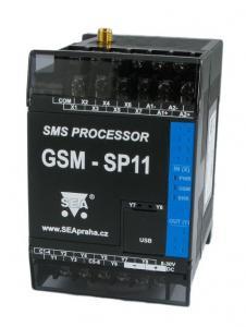 GSM-styrning med 7xDin, 2xAin, 8xDut