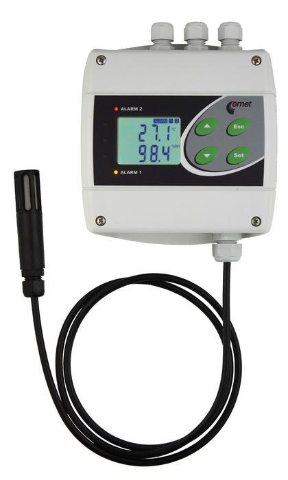 Temperatur- och luftfuktighetsregulator med extern givare