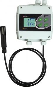 Temperatur- och luftfuktighetsregulator med 230V reläer och extern givare