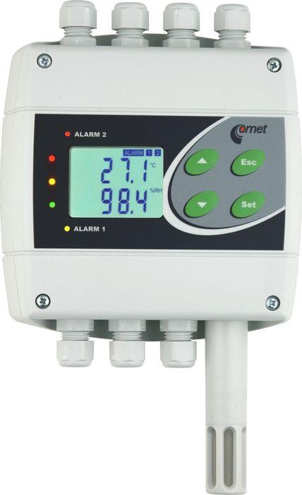 Temperatur- och luftfuktighetsregulator med RS485