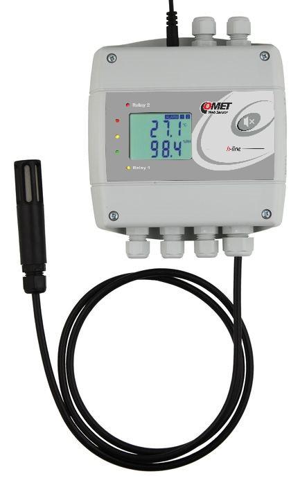 Temperatur- och luftfuktighetsregulator med extern givare & Ethernet
