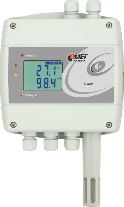 Barometertryck, temp- och luftfuktighetsregulator med Ethernet