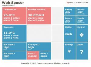 Web Sensor webbsida 1