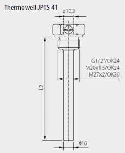Dykrör 600°C med inv. diameter 7 mm