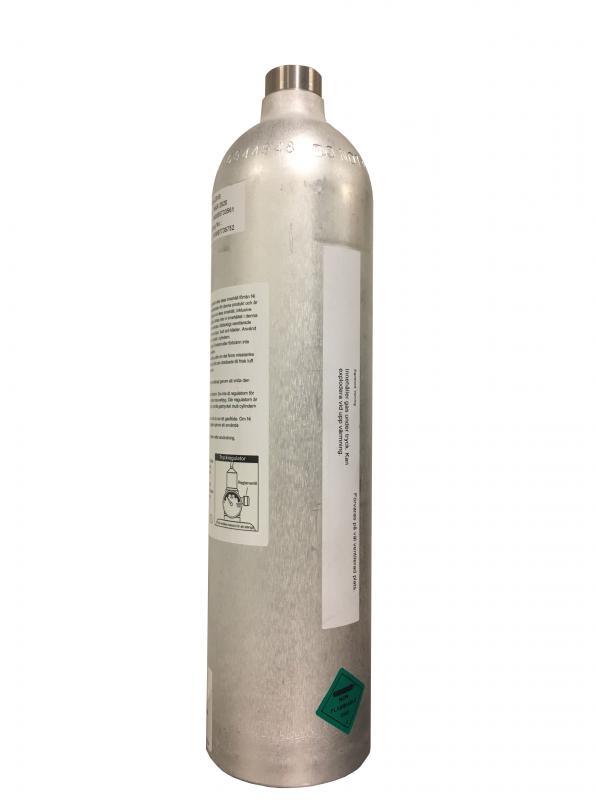 Engångscylinder med kalibrergas