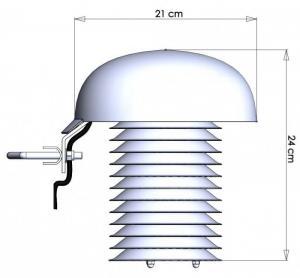 Väderstation för luft- och marktemperatur för Comet Cloud