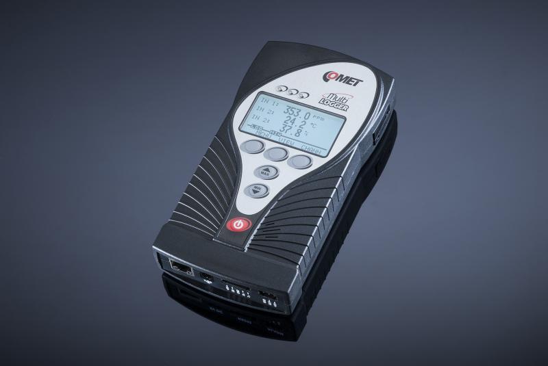 Datalogger för CO2, temperatur, RH, samt 2 analoga eller digitala in