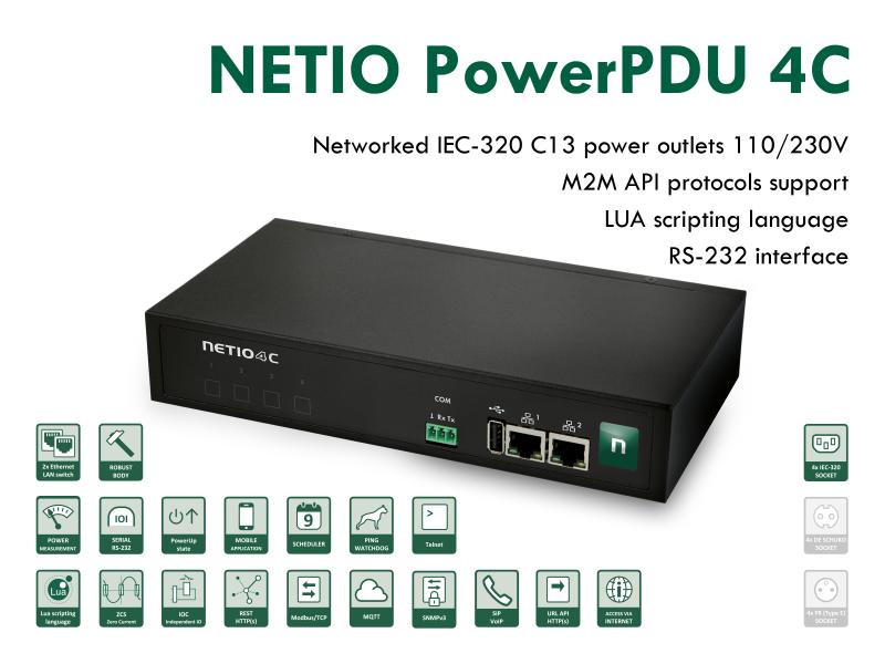 Smart PDU med strömmätning och M2M API protokoll